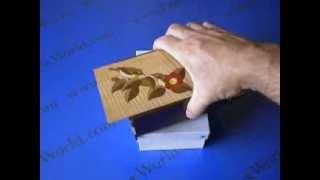 5 Sun 18 Step Bird Aged-katsura Double Compartment Japanese Puzzle Box