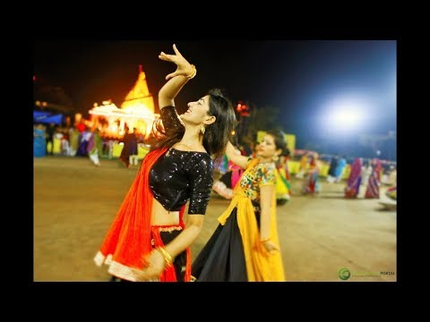 gujarat Navratri beautiful girl garba dance 2017 video