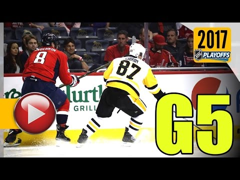 Pittsburgh Penguins vs Washington Capitals. 2017 NHL Playoffs. Round 2. Game 5. 05.06.2017 (HD)