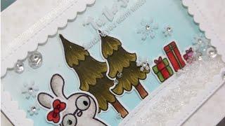 Pretty Pink Posh November Release Blog Hop | Holiday Pals Shaker Card