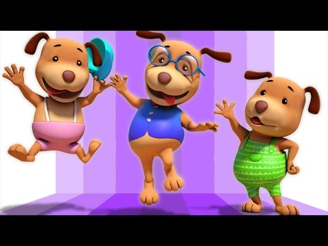 five little dogs | 3d rhymes | baby songs | nursery rhymes by Farmees S01E102 animation