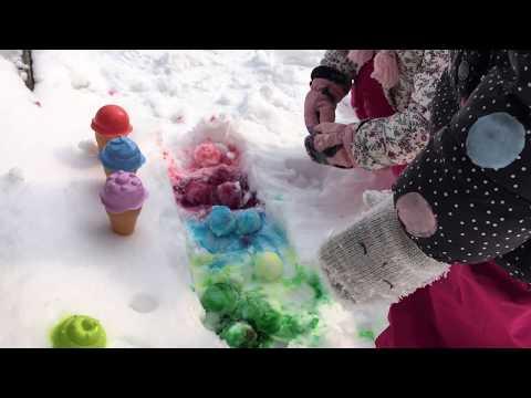 Sladoled od snega + RECEPT :-) | Ice cream from the snow | Fun in the snow