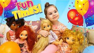 Василиса едет на детскую пижамную вечеринку к принцессам Дисней