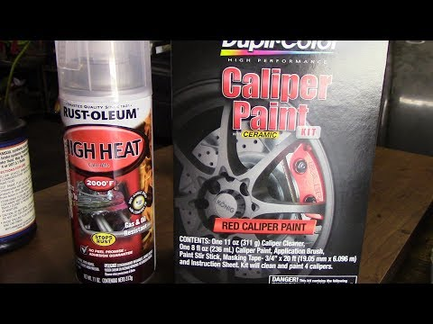 How To Paint Brake Calipers With Duplicolor Paint