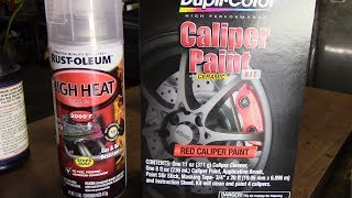 How to Paint Brake Calipers with Duplicolor Paint!