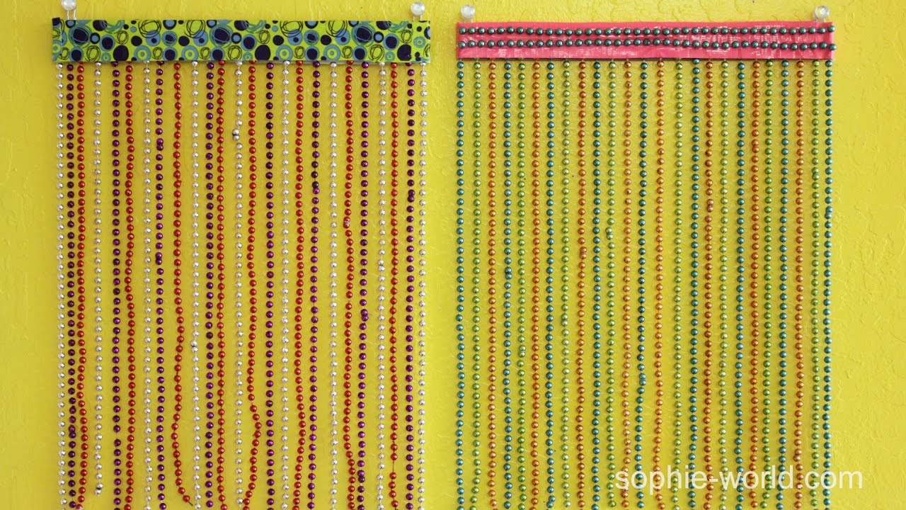 How to Make a Beaded Curtain for Your Locker | Sophie\'s World - YouTube