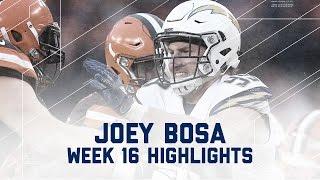 Joey Bosa Wreaks Havoc with 2 Sacks vs. Browns | NFL Week 16 Player Highlights