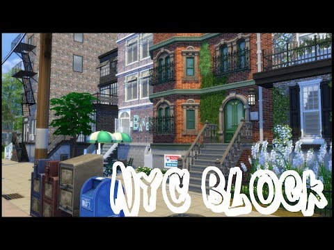 The Sims 4: Speed Build -  NYC BLOCK / CC BUILD