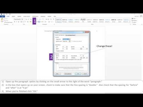 How to set an APA style paper in MS Word 2013