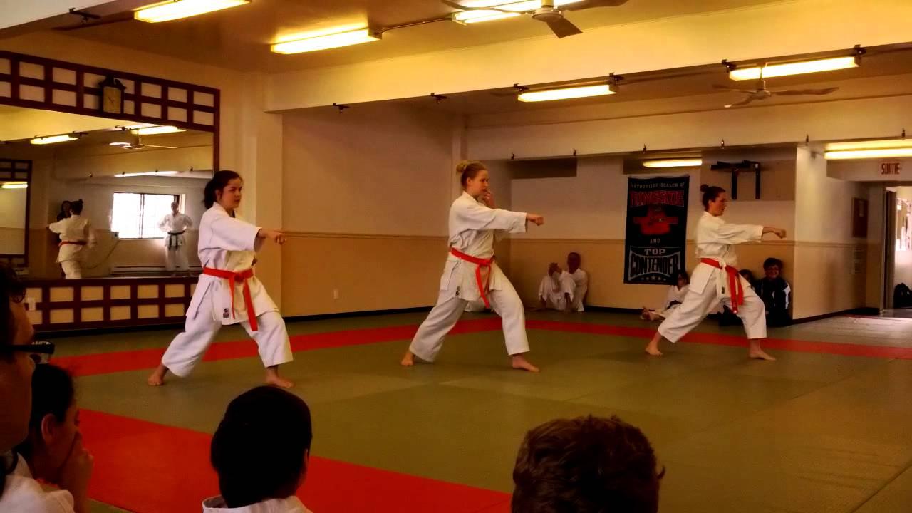 ddf4701f1155 Karaté Shotokan - Exam ceinture orange à verte (6e kyu) - YouTube