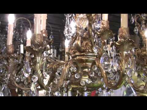 Bronze 12 Lamp Crystal Chandelier