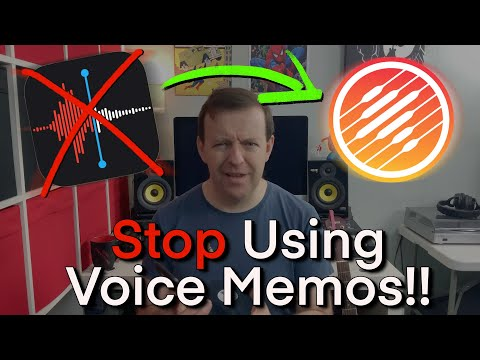 STOP 🛑 Using Voice Memos - Music Memos App Tutorial - Recording Ideas for Songs