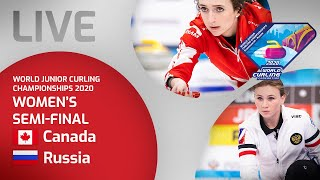 Canada v Russia - Women's 2v3 semi-final - World Junior Curling Championships 2020