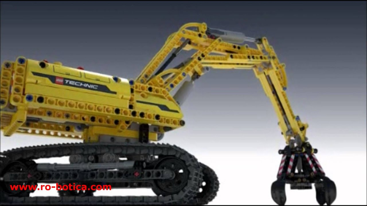m quina excavadora lego technic 42006 youtube. Black Bedroom Furniture Sets. Home Design Ideas
