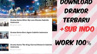 CARA DOWNLOAD FILM DRAKOR TERBARU 2020 SUB INDO