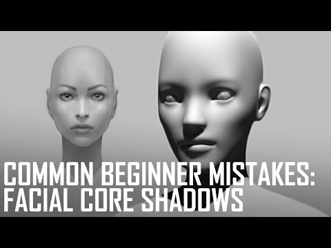 Critique Hour! Common Beginner Mistakes--Facial Core Shadows!