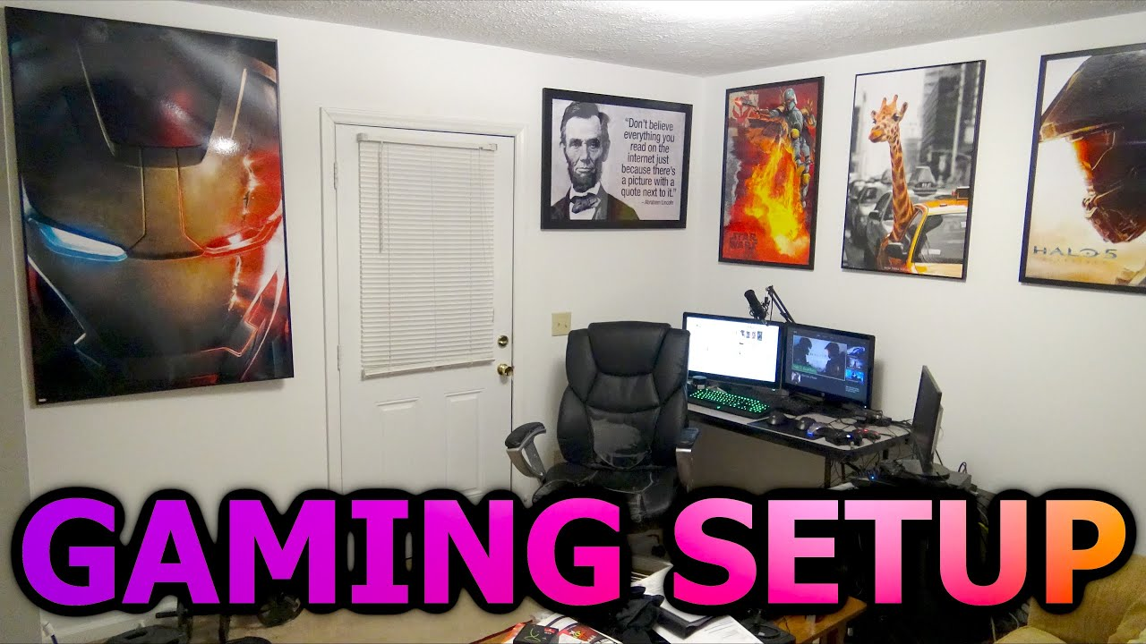2016 zybak gaming setup and apartment tour best and for Cool gamer bedroom ideas