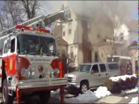 Oradell,nj Fire Department *House Fire/Quick Knock* 2/18/2010
