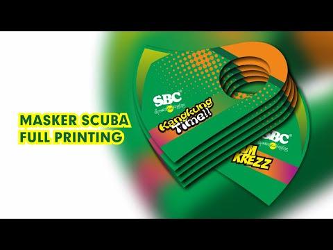 Masker Scuba Printing Full Desain - YouTube