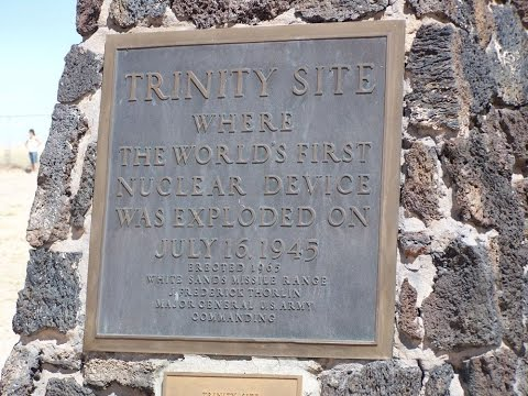 Trinity nuclear test side where the first nuclear bomb explode on Google Earth Map