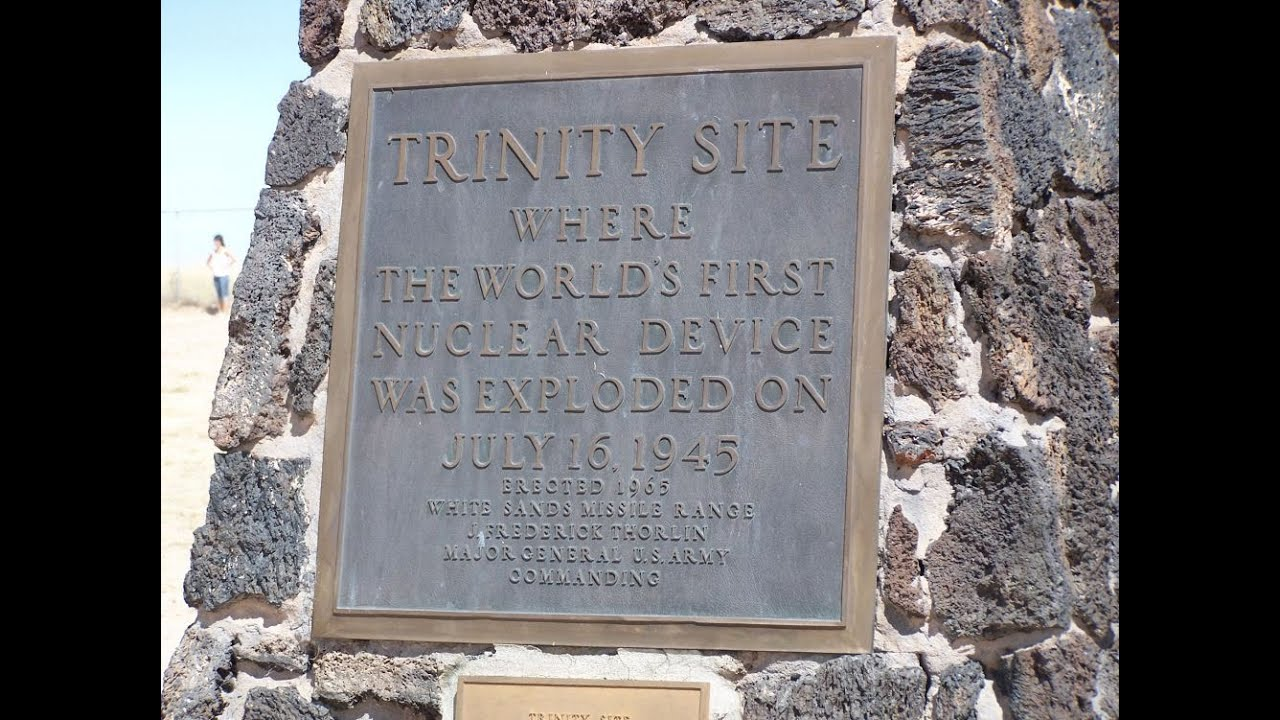 Trinity nuclear test side where the first nuclear bomb explode on trinity nuclear test side where the first nuclear bomb explode on google earth map sciox Choice Image