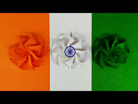 Diy Origami Tricolor OctaWind Mill  (Independence day Special)