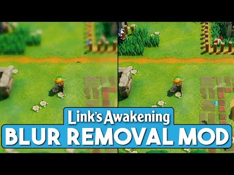 Someone modded out that vaseline-blur effect in Link's Awakening Switch