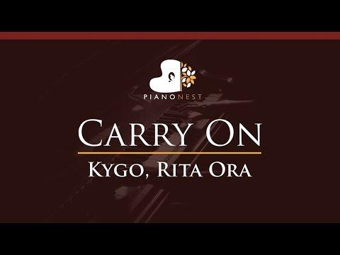Kygo, Rita Ora - Carry On - HIGHER Key (Piano Karaoke / Sing Along)
