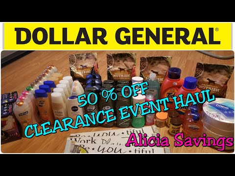 HUGE Clearance Event Haul !! Dollar General CLEARANCE EVENT DAY 2