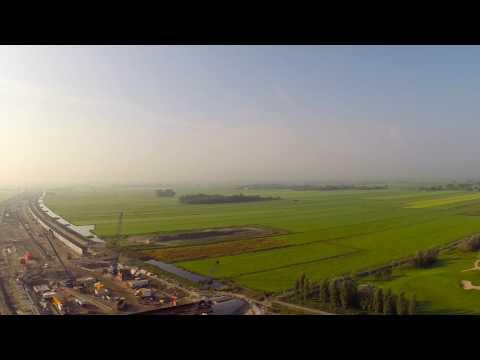 Aanleg A4 Delft-Schiedam | Zuid-Holland van Boven