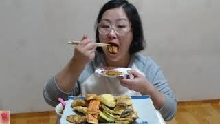 [Korean pancake][チヂミ] 굴전 맛살전 송이버섯전 호박전&막걸리~
