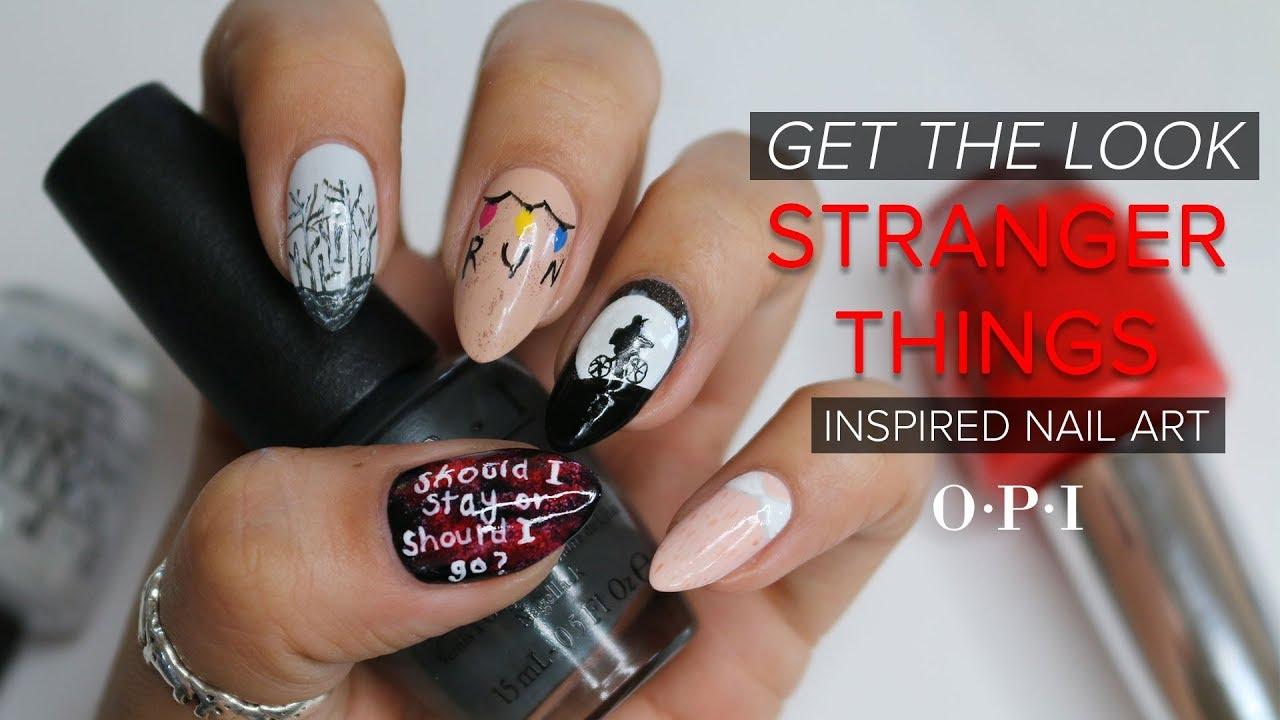 Nail Art Stranger Things By Bana Jarjour Youtube