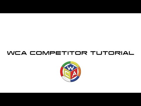 WCA Competitor Tutorial