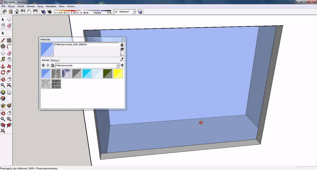 Google Sketchup Podstawy 3robimy Wnętrze Obiektu Youtube