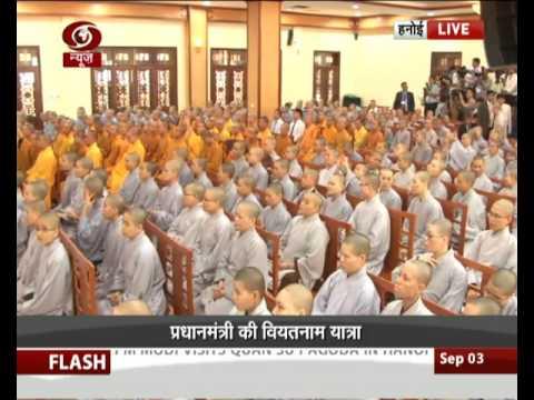 PM Modi visits Quan Su Pagoda in Hanoi