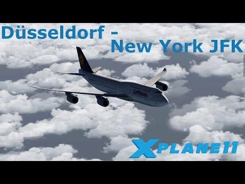 X Plane 11 | Düsseldorf (EDDL) nach New York JFK (KJFK) | Lufthansa Boeing 747