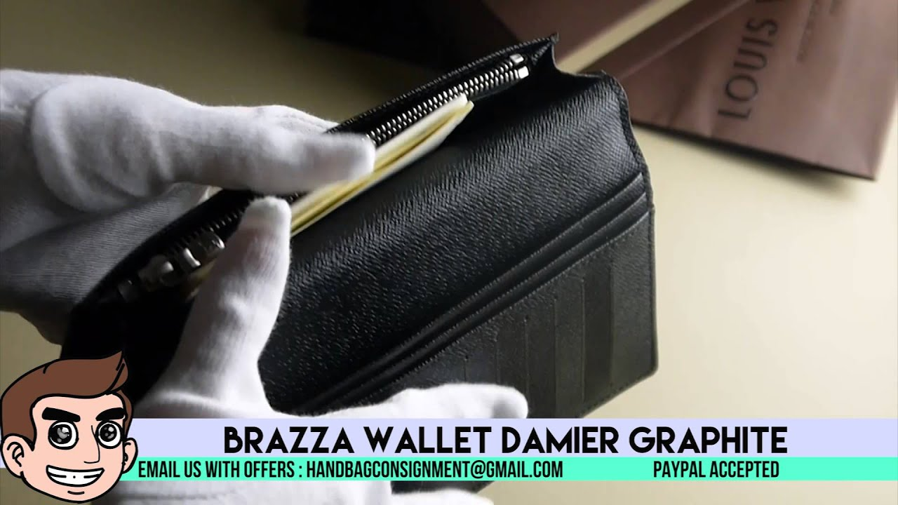 38de84d358e1 SALE  Louis Vuitton Brazza Wallet Damier Graphi... - With Loop ...