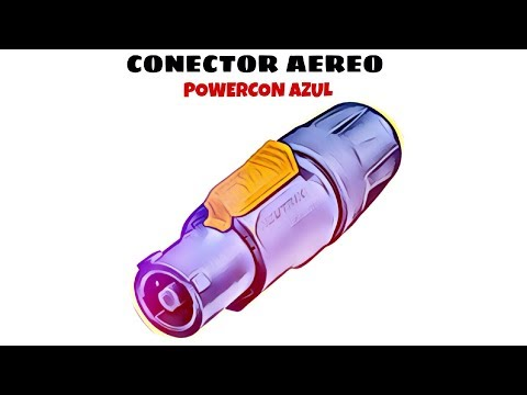 Video de Conector aereo PowerCon  Azul