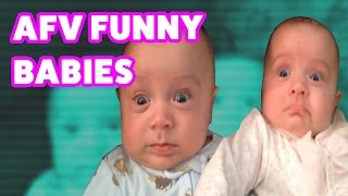 ☺ AFV (NEW!) Funniest Baby Reactions & Bloopers of 2016 (Funny Clips Fail Montage)