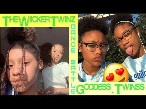 THEWICKERTWINZ VS GODDESS.TWINSS || DANCE BATTLE || #twins #dance #dancers #instagram #thewickertwin