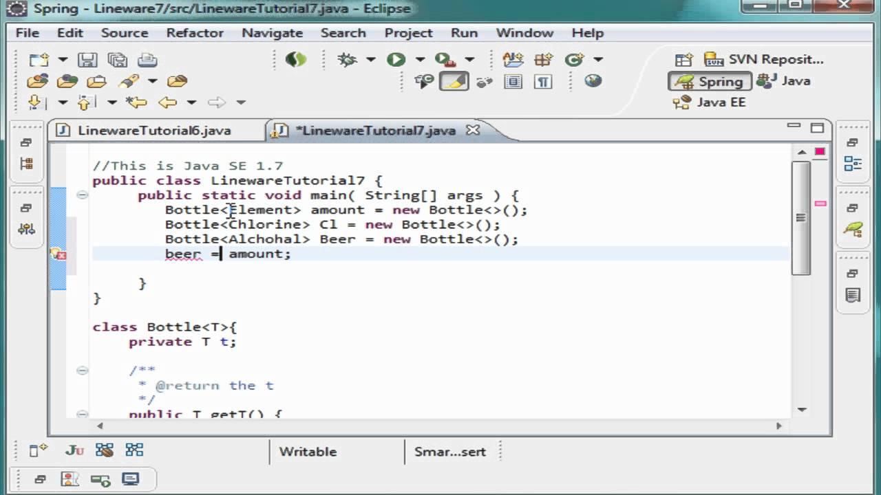 Java Jdk7 Tutorial 27 Generic Wildcards - YouTube