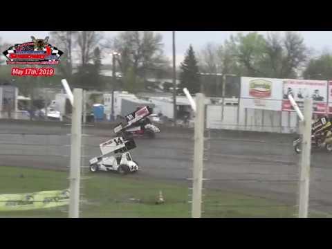 River Cities Speedway NOSA Sprint Car Heats (5/17/19)