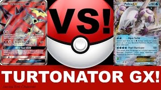 Pokemon Turtonator GX VS Palkia EX! PTCGO Jenna Em