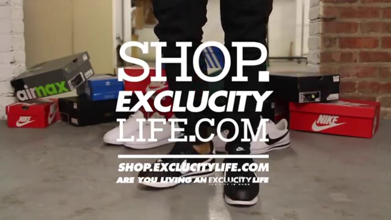 e2ec6c4ce1d164 Nike Cortez Leather - Black - White On-feet Video at Exclucity - YouTube