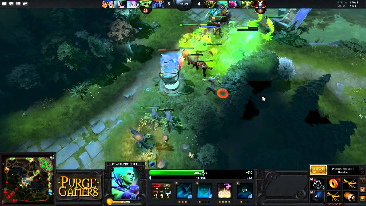 dota 2 purge plays death prophet youtube