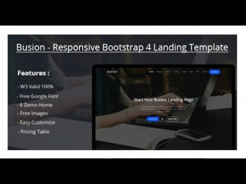 Busion - Responsive Bootstrap 4 Landing Template | Themeforest ...