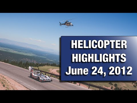 2012 Pikes Peak International Hill Climb Helicopter Highlight Footage