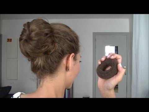 Le donut / bun / boudin à chignon - YouTube