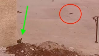 Syrian Rebel Engaged By Main Battle Tank