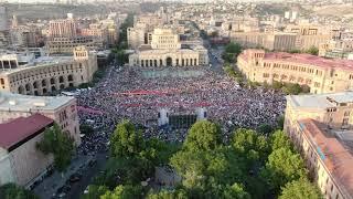 «Հայաստան» դաշինքի հանրահավաքը․ կադրեր՝ վերևից